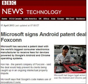 MicrosoftsignsAndroidFoxconn