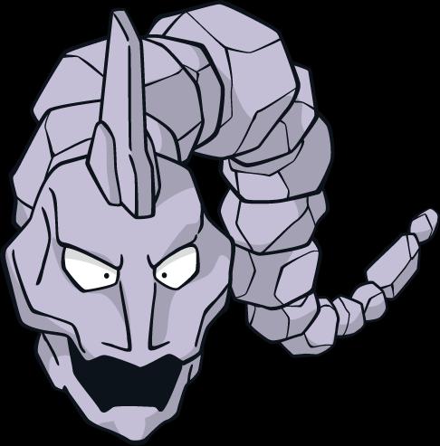 "Onix: ""It is a very aggressive Pokémon..."""