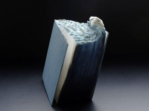 The Great Wave by Guy Laramee: Beautiful but not bookish.