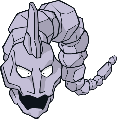 "Onix: ""It is a very aggressive Pokémon..."""